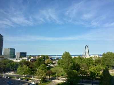 View of Gdynia, blue sky